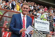 Leyton Orient Manager, Ian Hendon during the Sky Bet League 2 match between Leyton Orient and Barnet at the Matchroom Stadium, London, England on 8 August 2015. Photo by Bennett Dean.