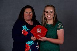 NEWPORT, WALES - Saturday, May 19, 2018: Aneeka Bardsley and family during the Football Association of Wales Under-16's Caps Presentation at the Celtic Manor Resort. (Pic by David Rawcliffe/Propaganda)