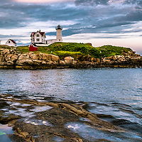 The Nubble Lighthouse in Maine is the most photographed lighthouse in America.<br />