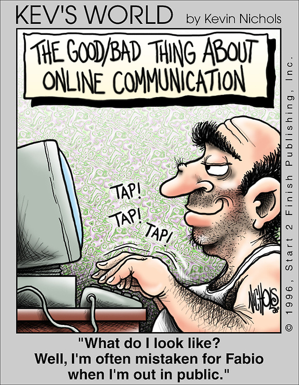 The Good/Bad thing about online communication<br />