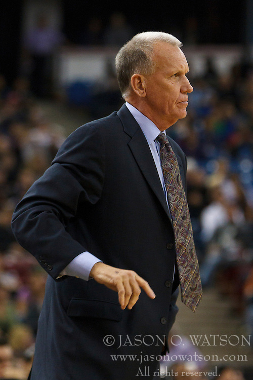 March 18, 2011; Sacramento, CA, USA;  Philadelphia 76ers head coach Doug Collins on the sidelines against the Sacramento Kings during the first quarter at the Power Balance Pavilion.