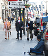 NIgel Farage leader of the UKIP Party, Terry Gilliam, Jimmy Wales &amp; Paddy Ashdown arriving for the Andrew Marr show<br /> Title:NIgel Farage leader of the UKIP Party, Terry Gilliam &amp; Paddy Ashdown arriving for the Andrew Marr show