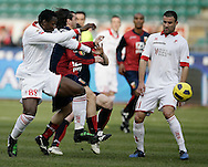 Bari (BA), 13-02-2011 ITALY - Italian Soccer Championship Day 25 - Bari VS Genoa..Pictured: Mischia.Photo by Giovanni Marino/OTNPhotos . Obligatory Credit