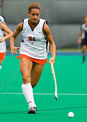 Virginia Cavaliers midfielder Paige Selenski (21) in action against Providence College.  The Virginia Cavaliers field hockey team defeated the Providence College Friars on the University Hall Turf Field on the Grounds of the University of Virginia in Charlottesville, VA on August 31, 2008.