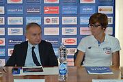 DESCRIZIONE : Rona 05 Ottobre 2015B<br /> GIOCATORE : Gianni Petrucci Raffaella Masciadri<br /> CATEGORIA : Conferenza<br /> SQUADRA : <br /> EVENTO : Presentazione Coach Andrea Capobianco<br /> GARA :<br /> DATA : 05 Ottobre 2015<br /> SPORT : Pallacanestro<br /> AUTORE : Agenzia Ciamillo-Castoria/A.Fraioli<br /> Galleria : FIP<br /> Fotonotizia : Presentazione Coach Andra Capobianco<br /> Predefinita :