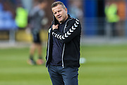 Forest Green Rovers manager, Mark Cooper during the EFL Sky Bet League 2 match between Macclesfield Town and Forest Green Rovers at Moss Rose, Macclesfield, United Kingdom on 29 September 2018.