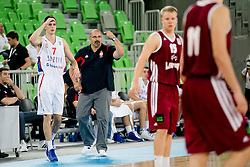 Aleksandar Dzikic, head coach of Serbia, during basketball match between National teams of Serbia and Latvia in Quarterfinal Match of U20 Men European Championship Slovenia 2012, on July 20, 2012 in SRC Stozice, Ljubljana, Slovenia. (Photo by Matic Klansek Velej / Sportida.com)