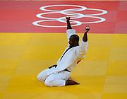 Olympics: London, 03.08.2012.Judo, +100kg, Final: Teddy Riner (FRA) celebrates.© pixathlon..
