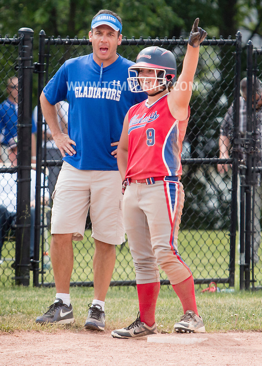 Middletown, New York - Goshen defeats Cornwall 5-2 to win the Section 9 Class A girls' softball championship game on May 30, 2015.