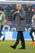 Manchester United Jose Mourinho during the The FA Cup match between Huddersfield Town and Manchester United at the John Smiths Stadium, Huddersfield, England on 17 February 2018. Picture by George Franks.