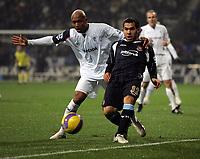 Photo: Paul Thomas.<br /> Bolton Wanderers v West Ham United. The Barclays Premiership. 09/12/2006.<br /> <br /> El Dadji Diouf of Boton puts pressure on Carlos Tevez (R) of West Ham.