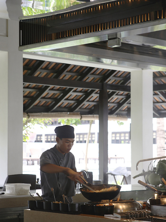 A chef prepares lunch at the Nam Hai luxury resort in Danang, Vietnam.