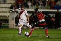 10.02.2013 SPAIN -  La Liga 12/13 Matchday 23th  match played between Rayo Vallecano vs Atletico de Madrid (2-1) at Campo de Vallecas stadium. The picture show Alejandro Damian Dominguez (Argentine player of Rayo Vallecano)