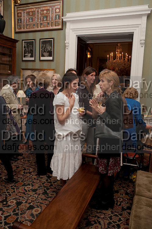 EMILY BEARN; MARY MIERS, David Campbell and Knopf host the 20th Anniversary of the revival of Everyman's Library. Spencer House. St. James's Place. London. 7 July 2011. <br /> <br />  , -DO NOT ARCHIVE-© Copyright Photograph by Dafydd Jones. 248 Clapham Rd. London SW9 0PZ. Tel 0207 820 0771. www.dafjones.com.