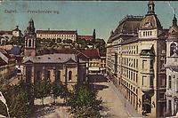 Zagreb : Preradovićev trg. <br /> <br /> ImpresumS. l. : S. M. Z., 1920.<br /> Materijalni opis1 razglednica : tisak ; 8,9 x 14 cm.<br /> Vrstavizualna građa • razglednice<br /> ZbirkaZbirka razglednica • Grafička zbirka NSK<br /> ProjektPozdrav iz Hrvatske • Pozdrav iz Zagreba<br /> Formatimage/jpeg<br /> PredmetZagreb –– Trg Petra Preradovića<br /> SignaturaRZG-PRER-7<br /> Obuhvat(vremenski)20. stoljeće<br /> NapomenaRazglednica je putovala. • S. M. Z. vjerojatno S. Marković Zagreb.<br /> PravaJavno dobro<br /> Identifikatori000953963<br /> NBN.HRNBN: urn:nbn:hr:238:777799 <br /> <br /> Izvor: Digitalne zbirke Nacionalne i sveučilišne knjižnice u Zagrebu