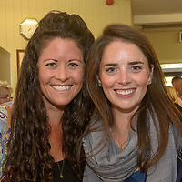 Amy and Jill Keane from Boston pictured at the Kinsale Regatta Emigrants' Welcome Home gathering at Temperance Hall.<br /> Picture. John Allen