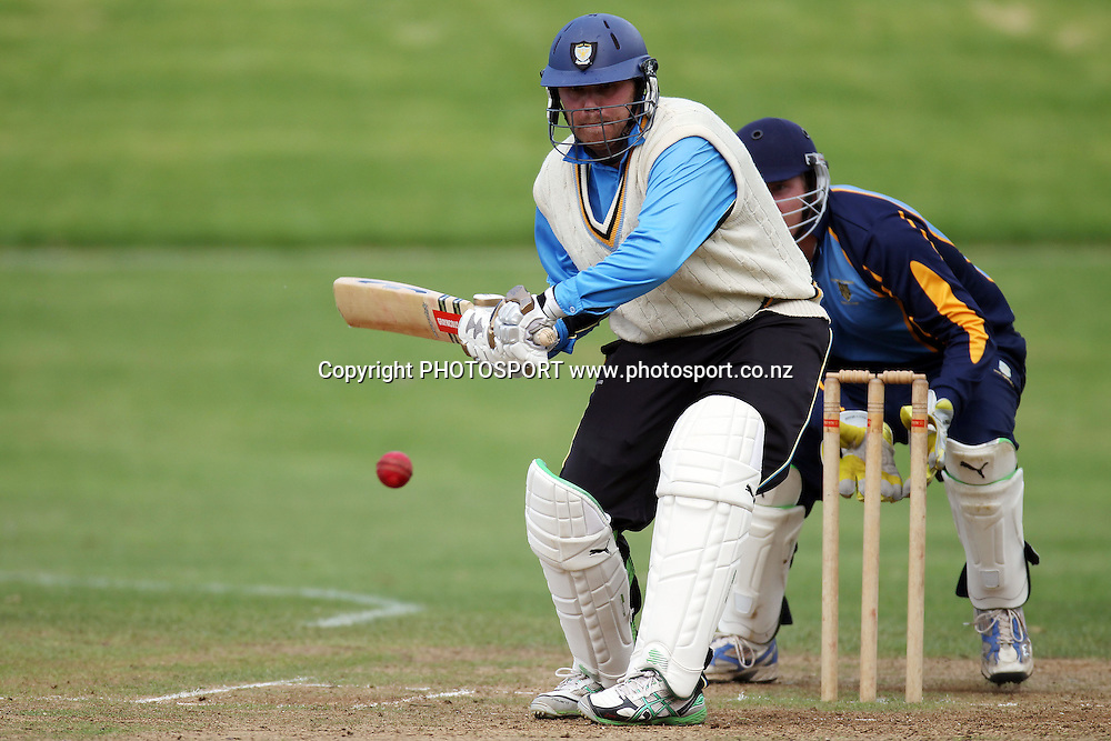 Daniel Lyons, East Christchurch Shirley (Cant) v University Grange (Otago), National Club Cricket Championship, round 1. Cornwall Park Cricket Club, Auckland. 5 April 2011. Photo: William Booth/photosport.co.nz