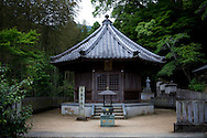 The number 11 temple, Fujii-dera (藤井寺), at the Shikoku Pilgrimage, 88 temples associated with the Buddhist monk Kūkai (Kōbō Daishi) on the island of Shikoku, Tokushima Prefecture, Japan.
