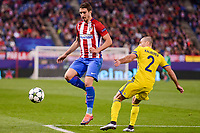 Atletico de Madrid's player Sime Vrsaljko and CF Rostov's player Timofei Kalachev during a match of UEFA Champions League at Vicente Calderon Stadium in Madrid. November 01, Spain. 2016. (ALTERPHOTOS/BorjaB.Hojas)