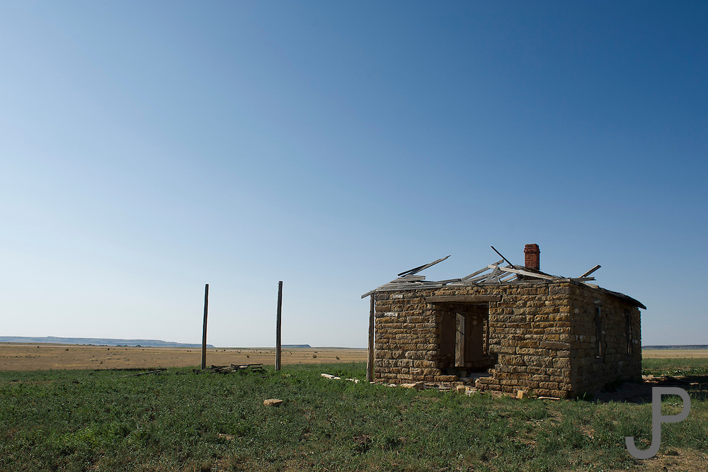 Abandoned ranch house on the plains of southeastern Colorado along Highway 162.