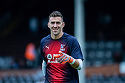 Crystal Palace GK Vicente Guaita during the Premier League match between Fulham and Crystal Palace at Craven Cottage, London, England on 11 August 2018.