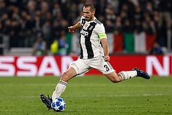 November 8, 2018 - Turin, Italy - Giorgio Chiellini of Juventus in action during the Group H match of the UEFA Champions League between Juventus FC and Manchester United FC on November 7, 2018 at Juventus Stadium in Turin, Italy. (Credit Image: © Mike Kireev/NurPhoto via ZUMA Press)