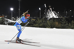 February 11, 2018 - Pyeongchang, GANGWON, SOUTH KOREA - Feb 10, 2018-Pyeongchang, South Korea-Lisa VITTOZZI of Italy action on the snow during an Olympic Biathlon Women Sprint 7.5Km at Biathlon Center in Pyeongchang, South Korea. (Credit Image: © Gmc via ZUMA Wire)
