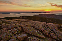 Dawn on Cadillac Mountain n Maine's Acadia National Park. HDR.