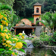 Town, of Boquete, Province of Chiriqui, country of Panama. Valle Escondido is the best example of the new style of residential areas of Boquete.  Located just outside the main town plaza it presents Colonial style homes and hotel accommodations.