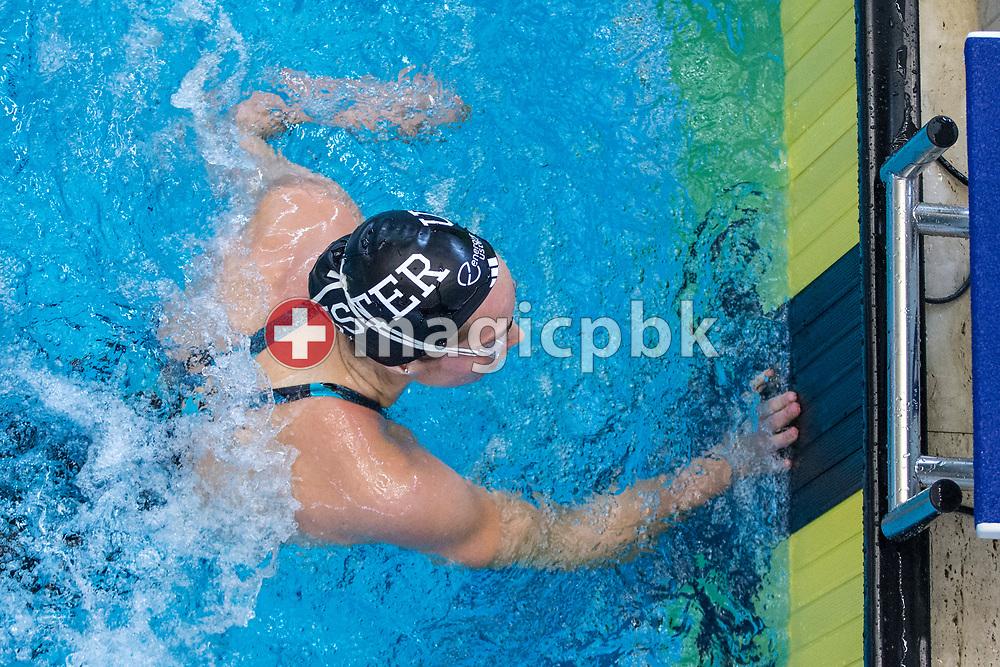SCUW's Sasha TOURETSKI of Switzerland competes in the women's 100m Freestyle Heats during the Swiss Swimming Championships at the Piscine des Vernets in Geneva, Switzerland, Saturday, March 25, 2017. (Photo by Patrick B. Kraemer / MAGICPBK)