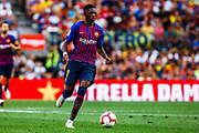 Ousmane Dembele from France during the Joan Gamper trophy game between FC Barcelona and CA Boca Juniors in Camp Nou Stadium at Barcelona, on 15 of August of 2018, Spain, Photo Xavier Bonilla / SpainProSportsImages / DPPI / ProSportsImages / DPPI