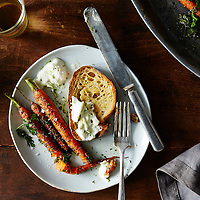 Carrot Top Pesto with Carrots and Burrata
