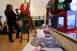 Cologne, Germany, Jan. 2012 - Urbane fashions hide their hippie hearts at Kiss the Inuit, which opened late last summer with a collection of street-wear, sweaters, jeans, shoes and boots, all made from organic materials (Schillingstrasse 11; 49-221-29-89-54-86; kisstheinuit.de). (Photo © Jock Fistick).
