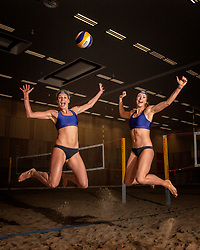 02-07-2018 NED: EC Beach teams Netherlands, The Hague<br /> (L-R) Sanne Keizer NED, Madelein Meppelink NED