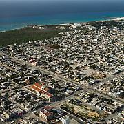 Aerial view of Playa del Carmen, Quintana Roo, Mexico.