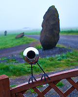 Small One Eyed Alien Checking out Folks on a Foggy Morning at the Drangshlid Farm Holiday Guest House in Southern Iceland. It knows that there are trolls living in the nearby Drangshlíð Rock. Image taken with a Leica X2 camera (ISO 100, 24 mm, f/2.8, 1/160 sec).  Nikonians Photo Adventure Tour in Iceland with Mike Hagen and Tim Vollmer.