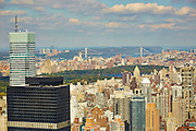 View of Central Park and George Washington Bridge from 845 United Nations Plaza, 86th floor