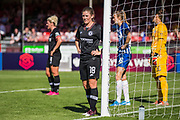 Maren Mjelde (Chelsea) waiting in the goal mouth during the FA Women's Super League match between Brighton and Hove Albion Women and Chelsea at The People's Pension Stadium, Crawley, England on 15 September 2019.