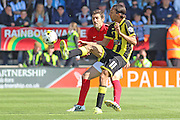 Abdenasser El Khayati stretches for the ball during the Sky Bet League 1 match between Burton Albion and Coventry City at the Pirelli Stadium, Burton upon Trent, England on 6 September 2015. Photo by Aaron Lupton.
