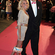 NLD/Amsterdam/20080929 - Pink Ribbon gala 2008, judith osborn en bert van der Veer