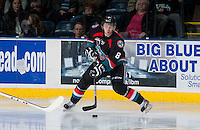 KELOWNA, CANADA - SEPTEMBER 28:  Cole Martin #8 of the Kelowna Rockets handles the puck against the Victoria Royals at the Kelowna Rockets on September 28, 2013 at Prospera Place in Kelowna, British Columbia, Canada (Photo by Marissa Baecker/Shoot the Breeze) *** Local Caption ***