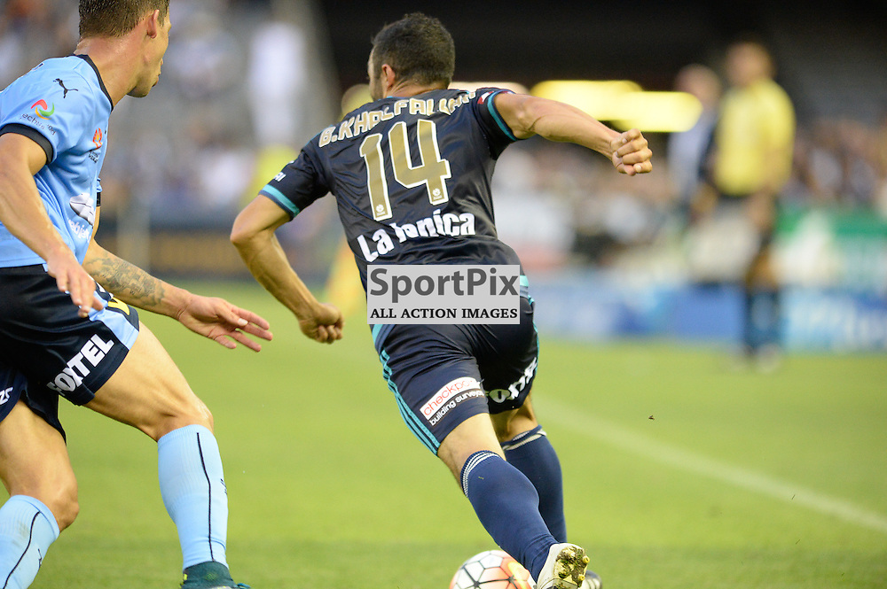 Fahid Ben Khalfallah of Melbourne Victory, Hyundai A-League (Australia Day) - January 26th 2016 - RD16 - Melbourne Victory FC v Sydney FC at Etihad Stadium, Docklands, Melbourne, Australia in a 1:0 win to Victory - © Mark Avellino | SportPix.org.uk