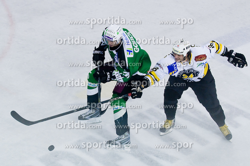 Bostjan Golicic of Tilia Olimpija vs Gregor Poloncic of 24 Ever in Tomaz Vnuk's exhibition game between team HDD Tilia Olimpija and team 24 Ever on August 28, in Ljubljana, Slovenia. (Photo by Matic Klansek Velej / Sportida)