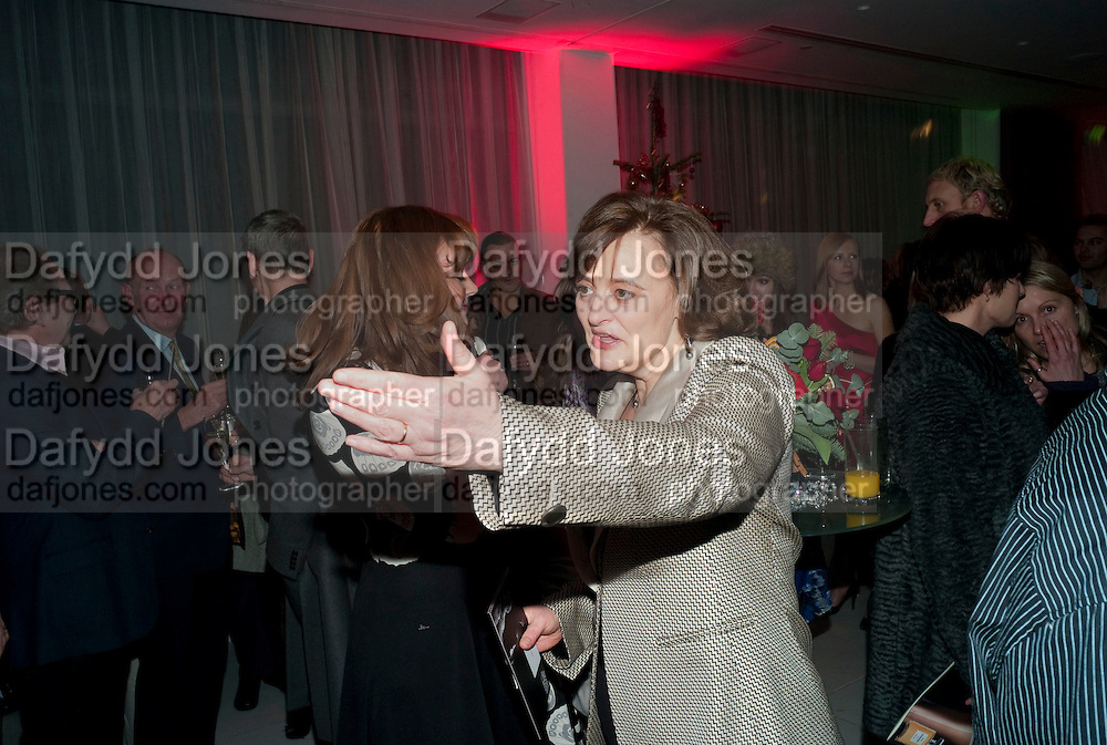 CHERIE BLAIR, English National Ballet launches its Christmas season with a partyu before s performance of The Nutcracker at the Coliseum.  St. Martin's Lane Hotel.  London. 16 December 2009 *** Local Caption *** -DO NOT ARCHIVE-© Copyright Photograph by Dafydd Jones. 248 Clapham Rd. London SW9 0PZ. Tel 0207 820 0771. www.dafjones.com.<br /> CHERIE BLAIR, English National Ballet launches its Christmas season with a partyu before s performance of The Nutcracker at the Coliseum.  St. Martin's Lane Hotel.  London. 16 December 2009