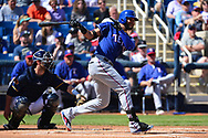 PHOENIX, AZ - MARCH 04:  Nomar Mazara #30 of the Texas Rangers at bat in the spring training game against the Milwaukee Brewers at Maryvale Baseball Park on March 4, 2017 in Phoenix, Arizona.  (Photo by Jennifer Stewart/Getty Images)