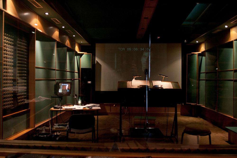 studi, dettagli di doppiaggio<br /> dubbing track studio