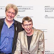 NLD/Amsterdam/20170320 - Onegin – Het Nationale Ballet premiere, Jetta Klijnsma en partner Ard van Rijn