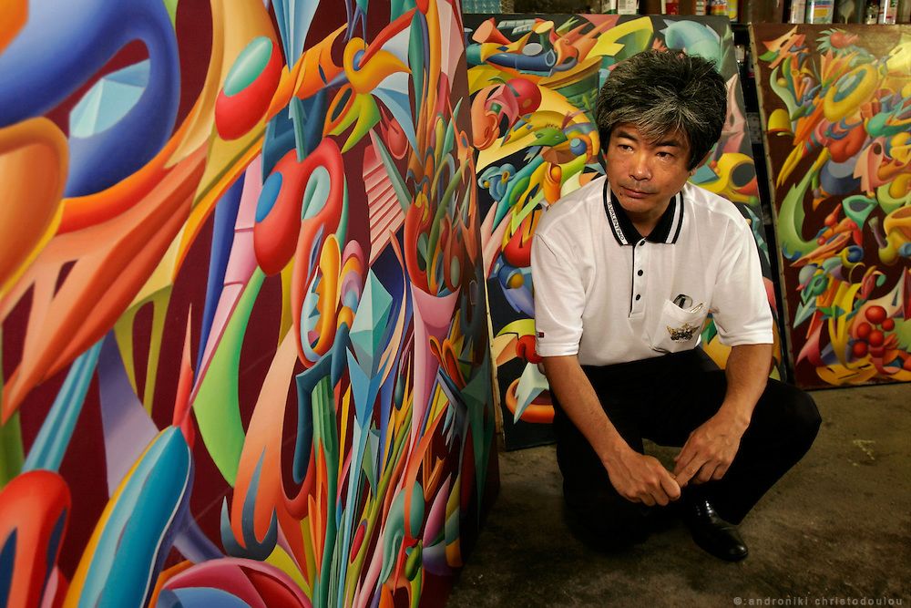 YOSHIMICHI ISHIMARU. Artist. 2nd generation hibakusha - son of a Hiroshima A-Bomb survivor.