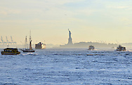 Traffic in New York harbor