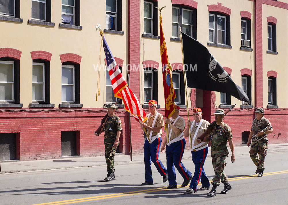 Middletown, New York - The Middletown-Town of Wallkill Memorial Day parade starts up Route 211 on May 25, 2015.